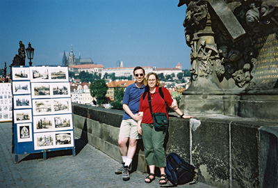 Photo of Nieka and Ken in Prague